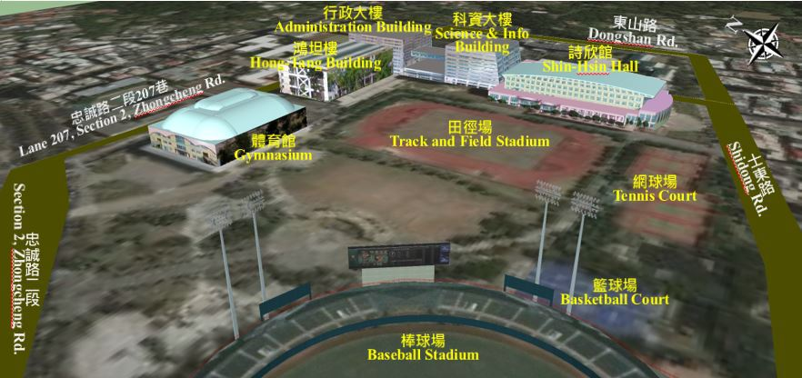 Campus Map ─ Tian-Mu Campus