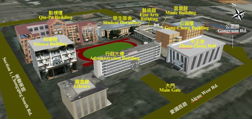Campus Map ─ Bo-Ai Campus